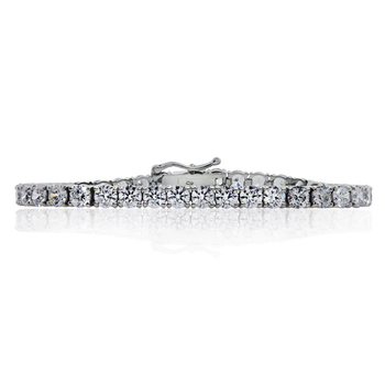 CARAT* London Brilliant Round Tennis Bracelet in Sterling Silver