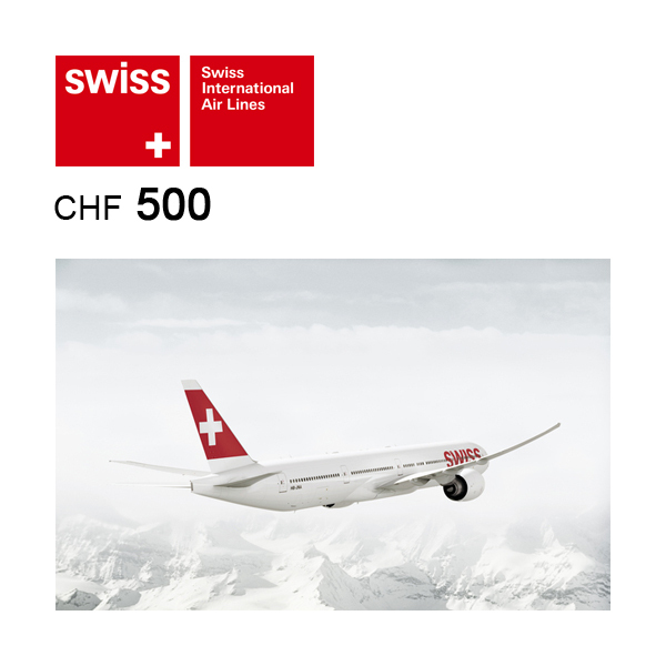 SWISS Flight voucher CHF500 Image