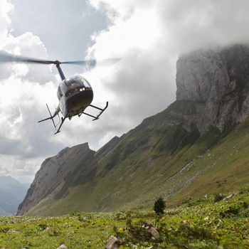 Helikopter-Weekend für 2 mit Wellness