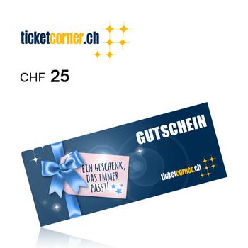 Ticketcorner Gift card CHF25